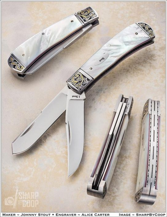 White Mother of Pearl Trapper